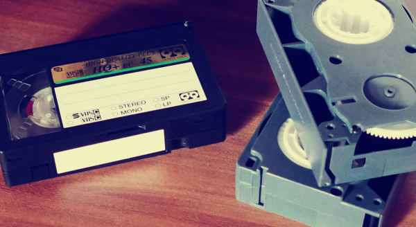 A Stack of VHS tapes