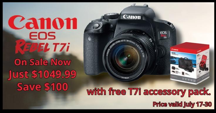 2017 06 12 Canon Rebel T7i Summer Sale Social Media