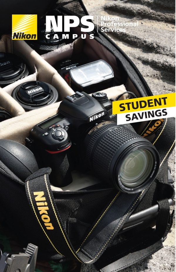Nikon Student Savings Ad