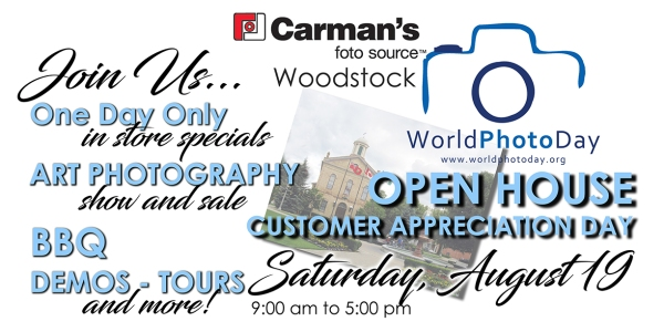 World Photo Day/ Customer Appreciation Day Open House Advertisement