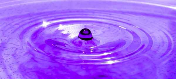 a purple water droplet