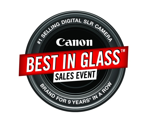 Canon Best in Glass Sales Event logo